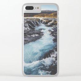 Bruarfoss, Golden Circle, Iceland Clear iPhone Case