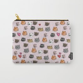 cats pattern pink Carry-All Pouch
