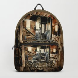 Vintage Horse Drawn Carriage Backpack
