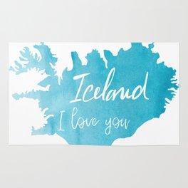 Iceland I love you Rug