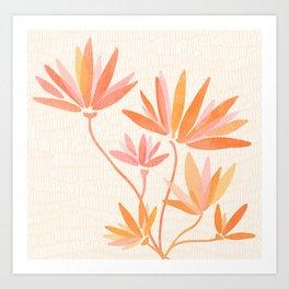 Basking In The Summer Sun / Japanese Botanical Woodblock Art Print
