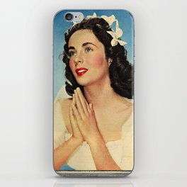 ELIZABETH TAYLOR PRAYING - MODERN SCREEN MAGAZINE iPhone Skin