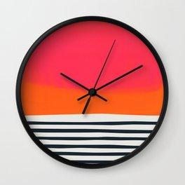 Sunset Ripples Wall Clock