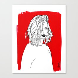 RED SHIRLEY MANSON Canvas Print