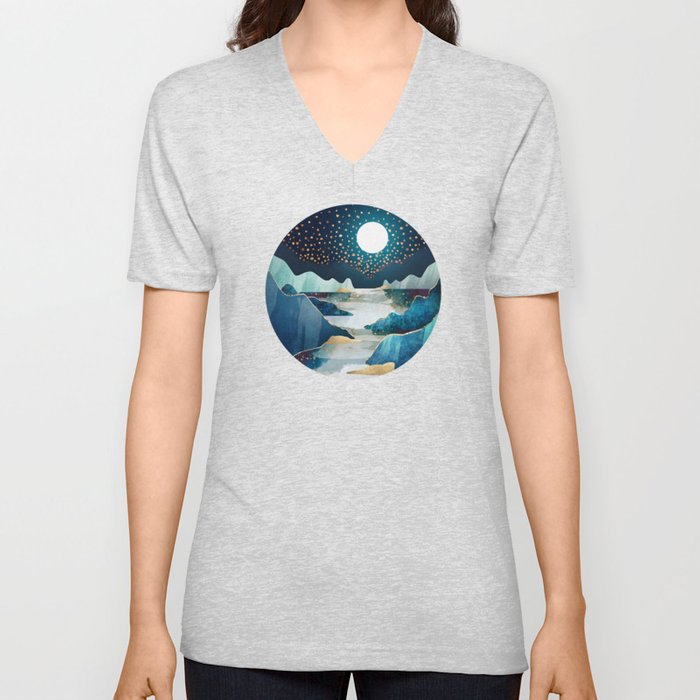 Moon Glow Unisex V-Neck