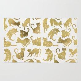 Cat Positions – Gold Palette Rug