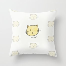 CatMeow Throw Pillow