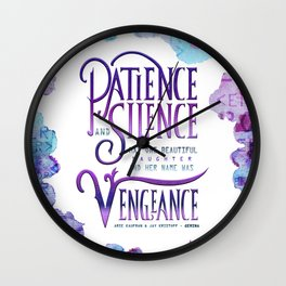 PATIENCE AND SILENCE Wall Clock