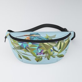 Common Kingfisher (halcyon) in Triangles Fanny Pack