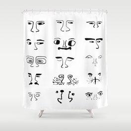 Mascara Shower Curtain