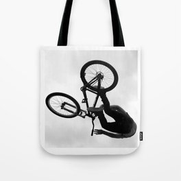 Flying Bike Tote Bag