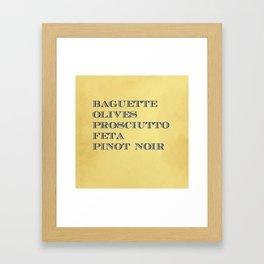 Market Tote Framed Art Print