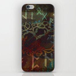 Tree of life  -Yggdrasil - and runes iPhone Skin