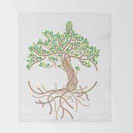 Rope Tree of Life. Rope Dojo 2017 white background Throw Blanket