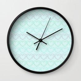 Hopeful Patterns Wall Clock