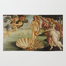 The Birth of Venus by Sandro Botticelli Rug