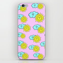 Cute baby design in pink iPhone Skin