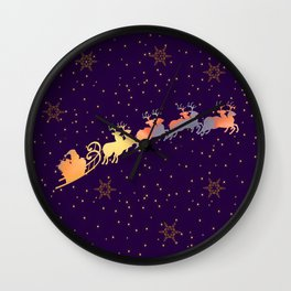 I dream of Santa Claus | Christmas Vision Wall Clock