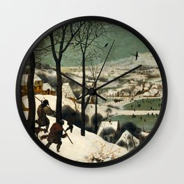 Hunters in the Snow (Winter) Wall Clock