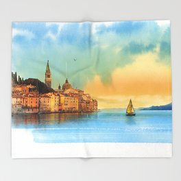 Italian landscape Throw Blanket