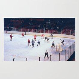 Vintage Ice Hockey Match Rug
