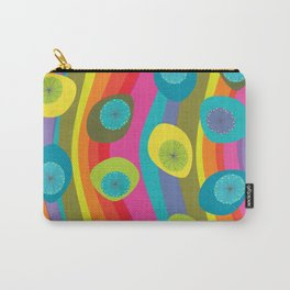 Groovy Retro Waves Carry-All Pouch