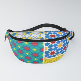 Moroccan pattern, Morocco. Patchwork mosaic with traditional folk geometric ornament. Tribal orienta Fanny Pack