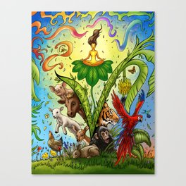 Vegan for them Canvas Print
