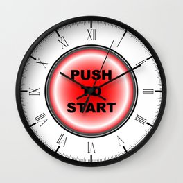 Push To Start Wall Clock