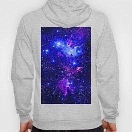 Fox Fur Nebula Galaxy blue purple Hoody