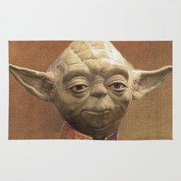General Yoda Portrait Painting On Canvas | Fan Art Rug
