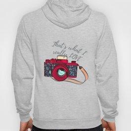 Retro camera. Fashion design Hoody