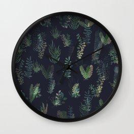 green garden at nigth mirror!!! Wall Clock
