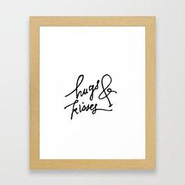 Hugs & Kisses Framed Art Print