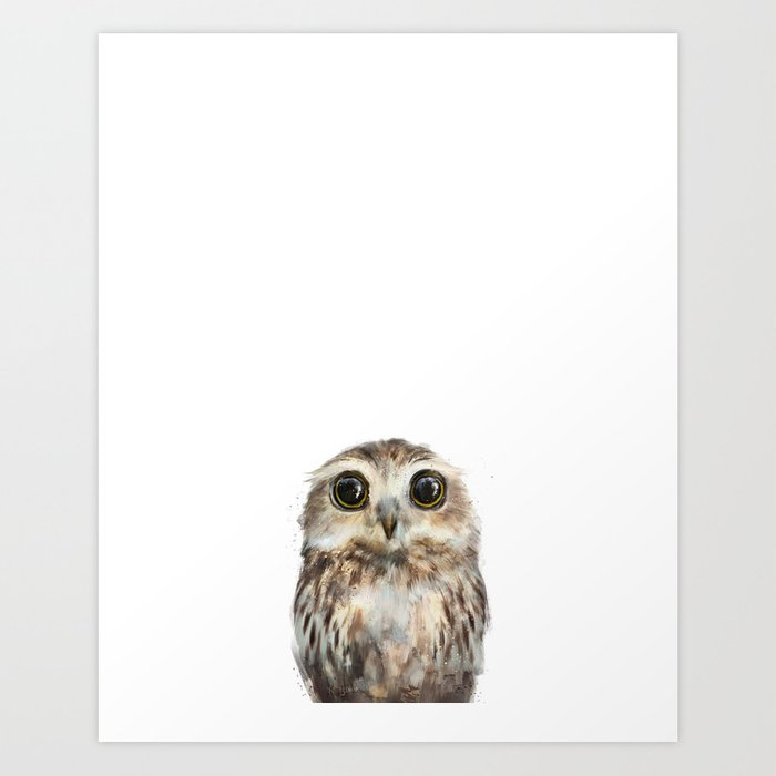 Sunday's Society6 | Little animal owl art print