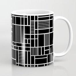 Map Lines Black Coffee Mug