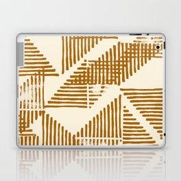 Stripe Triangle Block Print Geometric Pattern in Orange Laptop & iPad Skin