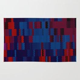 Red and Blue Digi Fractal Rug