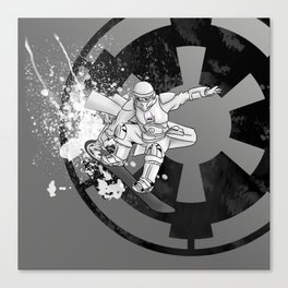 Snow Board Trooper Canvas Print