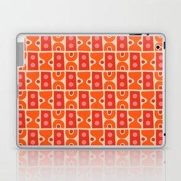 Mid Century Abstract Pattern Orange & Red Laptop & iPad Skin