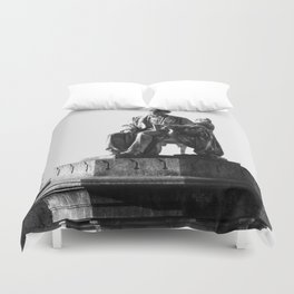 old man statue Duvet Cover