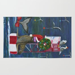 Christmas Seal and Friends Rug