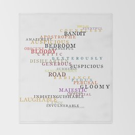 Word Inventions William Shakespeare Quote Art - Typography Throw Blanket