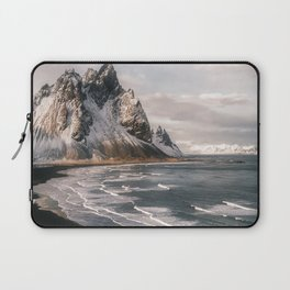 Stokksnes Icelandic Mountain Beach Sunset - Landscape Photography Laptop Sleeve