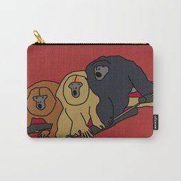 Howler Monkeys Carry-All Pouch