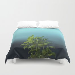 Shy and charming basil Duvet Cover