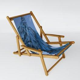 Sacred Blue Sling Chair