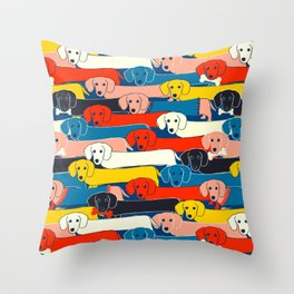 COLORED DOGS PATTERN 2 Throw Pillow