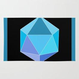 Blue Icosahedron. Rug