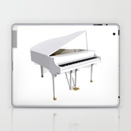 White Grand Piano Laptop & iPad Skin